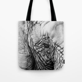 Elephant Pencil Drawing Tote Bag