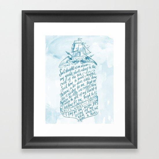 Old Sailor Song No.3 Framed Art Print