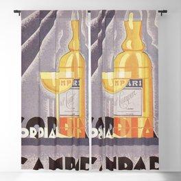 Vintage 1941 Cordial Campari Advertisement by Nicolay Diulgheroff Blackout Curtain