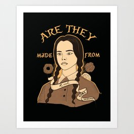 Wednesday Addams - Girl Scouts Art Print