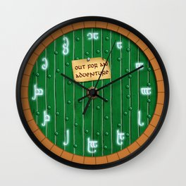 Out for an adventure Wall Clock