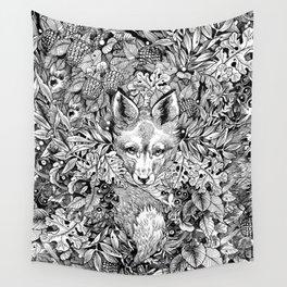 hidden fox Wall Tapestry