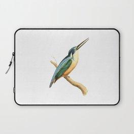 Half-collared Kingsfisher Bird Illustration by William Swainson Laptop Sleeve