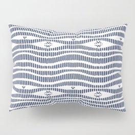 Indigo Pattern - Indigo / Navy & White Pillow Sham