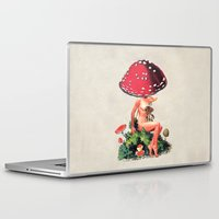 eugenia loli Laptop & iPad Skins featuring Shroom Girl by Eugenia Loli