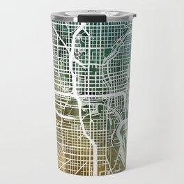 Milwaukee Wisconsin City Map Travel Mug