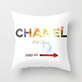 French Fashion Throw Pillow