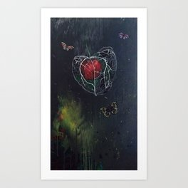 L'amour en Cage Art Print