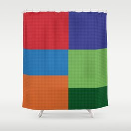 Tiled Squares  Shower Curtain