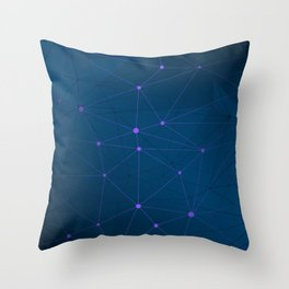 High-tech Polygonal Network Abstract Modern Art Throw Pillow