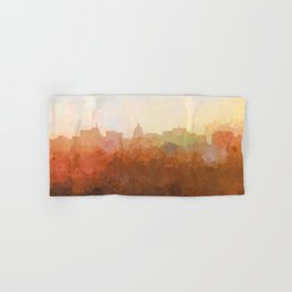 Madison, Wisconson Skyline - In the Clouds Hand & Bath Towel