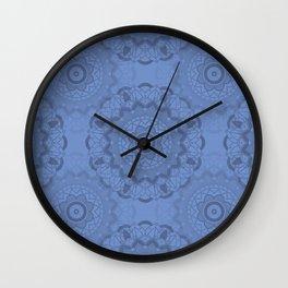 Mandala-Yoga-Blue Wall Clock