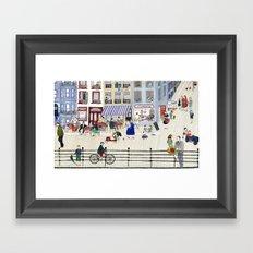 On the dike (in Ostend) Framed Art Print
