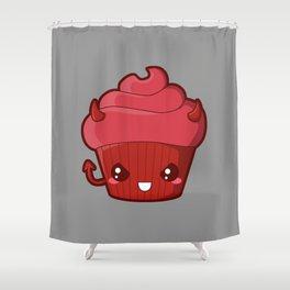 Spooky Cupcake - Devil Shower Curtain