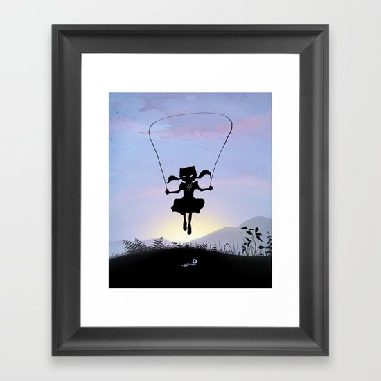 Cat Kid Framed Art Print