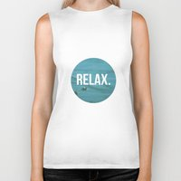relax Biker Tanks featuring RELAX by Jenny Ardell
