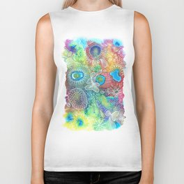 Water colors 1 - Rainbow corals Biker Tank