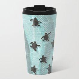 Loggerhead sea turtle hatchlings Travel Mug