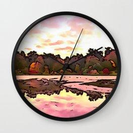 The Salmon Lake. (Painting) Wall Clock