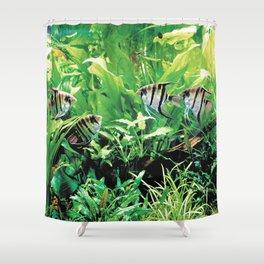 Teardrop Angelfish Shower Curtain