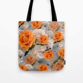 CORAL ROSES AND CHERRY BLOSSOMS Tote Bag