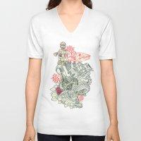 chaos V-neck T-shirts featuring Chaos by Tin Salamunic