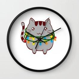 Xmas Cat Claws Christmas Cute Kittie Kitten Christmas Collection Meowy Christmas T-shirt Design Wall Clock