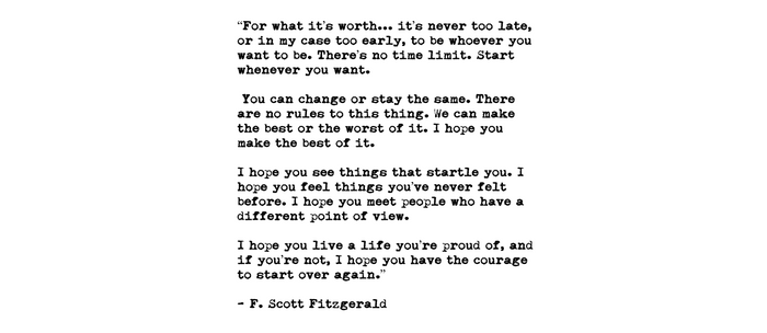 F Scott Fitzgerald quote Coffee Mug