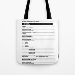 Nuclear Launch Tote Bag