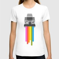 gray T-shirts featuring Taste the Rainbow by Zeke Tucker