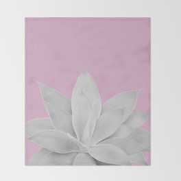 Pink Lavender Agave #1 #tropical #decor #art #society6 Throw Blanket