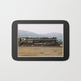 Steam Train Locomotive. Santa Fe 3751. © J. Montague. Bath Mat