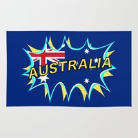 australia Area & Throw Rugs featuring Australia by mailboxdisco