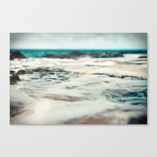 Kauai Sea Foam Canvas Print