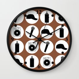 4 Elements Of Hip-Hop Wall Clock