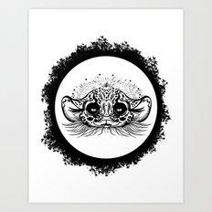 Half Cute Wild Cat Art Print