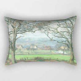 """Camille Pissarro """"Near Sydenham Hill"""" Rectangular Pillow"""