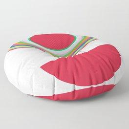 Red Woman Floor Pillow