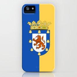 flag of santiago de Chile iPhone Case