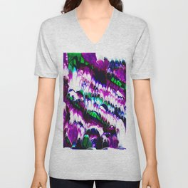 Colorful Ebb And Flow Unisex V-Neck
