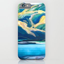 Franklin Carmichael - Lone Lake - Canada, Canadian Watercolor Painting - Group of Seven iPhone Case