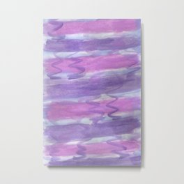 Purple Waves Metal Print