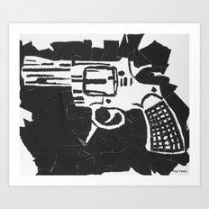Gun. Art Print