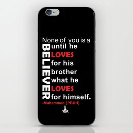 Love For Your Brother What You Would Love For Youself iPhone Skin