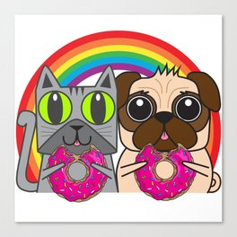Kitty and Puggy Canvas Print
