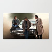 supernatural Canvas Prints featuring Supernatural by Artechniq