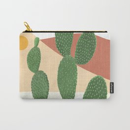 Abstract Cactus II Carry-All Pouch