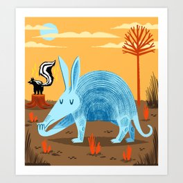 The Aardvark and The Skunk Art Print