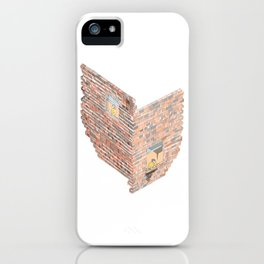 2 dimensions of separation - brick neighbour lovers iPhone Case