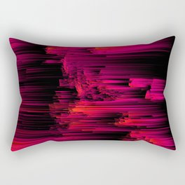 Burnout - Glitch Abstract Pixel Art Rectangular Pillow